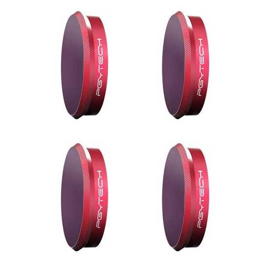 PGYTECH Комплект от ND8, ND16, ND32 и ND64 филтри за Osmo Action