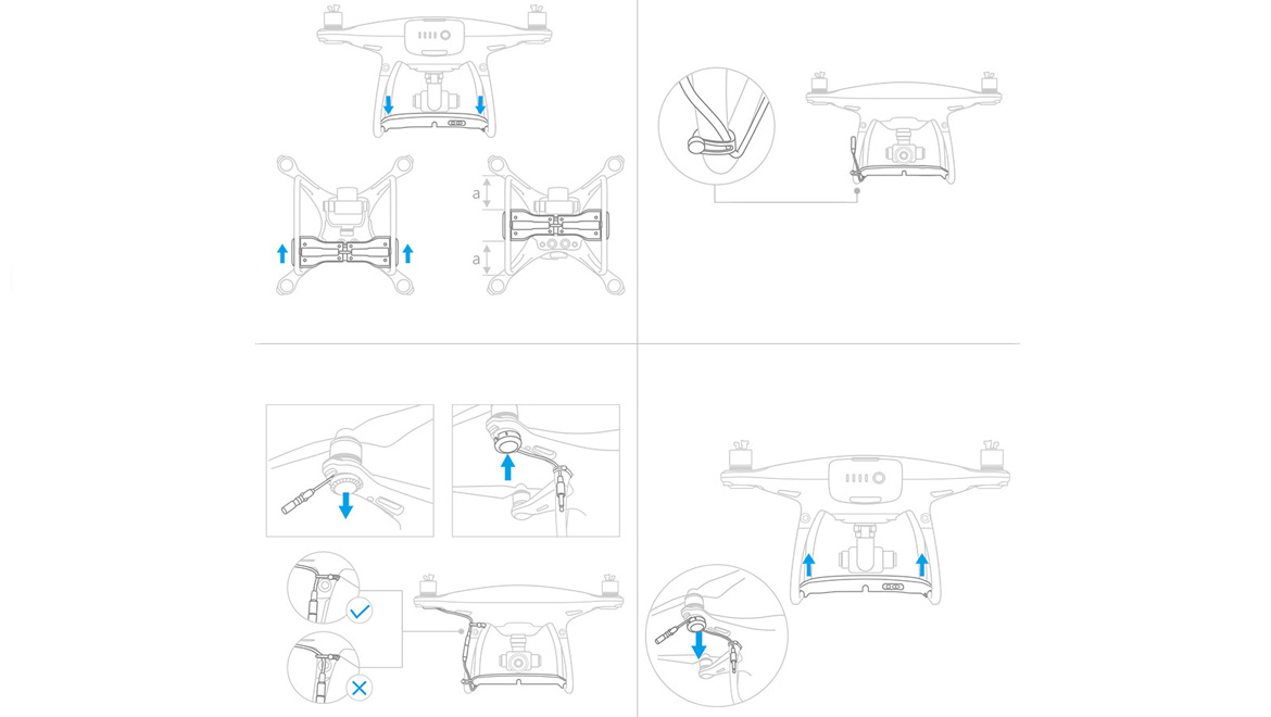 Air-Dropping system for Phantom 4 series 5
