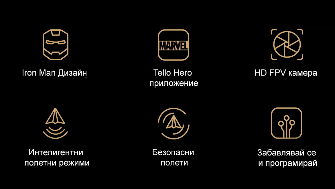 Tello Iron Man Функции